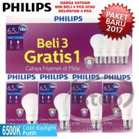 Lampu Philips LED Bulb 7W Putih 7 W Watt 7Watt Bohlam packing4pcs