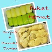 Jual PAKET HEMAT Durian Kupas Pancake Jumbo Durpas Medan Krim Tipis Manis Murah