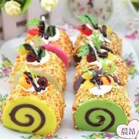 Squishy Kue Bolu Gulung Swis cake roll bread home korea squishy sps008