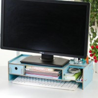 New Desktop storage Meja laptop ada laci nya KOMPUTER BAHAN KAYU UNIK