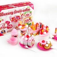 Mainan Anak Perempuan - Kue Potong Luxury Fruit Cake Besar No. FDE801