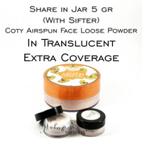 Share in Jar 5gr Coty Airspun in Translucent Extra Coverage