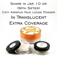 Share in Jar 10gr Coty Airspun in Translucent Extra Coverage