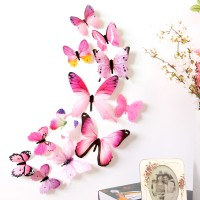 H023 Stiker dinding kupu-kupu motif 3D Wall Sticker Butterfly