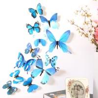 H023 3D Wall Sticker Butterfly PVC - Stiker dinding kupu-kupu motif