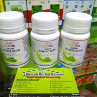 Jual Hendel EXITOX Green Coffee Bean Extract 100% asli/pelangsing herbal Murah