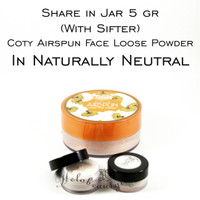 Share In Jar 5gr Coty Airspun Loose Face Powder In Naturally Neutral