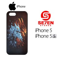 Casing HP iPhone 5 5s Dota 2 wallpaper red blue Custom Hardcase Cover