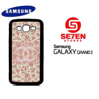 Casing HP Samsung Grand 2 Coco Chanel Pattern Logo Custom Hardcase Cov