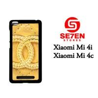 Casing HP Xiaomi Mi4i, Mi4c chanel goldi Custom Hardcase Cover