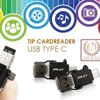 USB Type C On The Go (OTG) Cardreader Micro SD Dual Output PNY UCR01