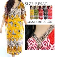 Jual Baju Tidur Daster Batik Jumbo Big Size Rayon XXXL Gaya India D18 Murah