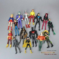 MAINAN DC COMICS SUPER HERO ANIMATED SET 15 AQUAMAN BATMAN BATGIRL