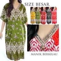 Baju Tidur Daster Batik Jumbo Big Size Rayon XXXL Gaya India D20