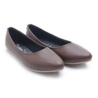 harga Dr. Kevin Women Flats Shoes Pu Leather 43197 - Brown Tokopedia.com