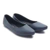 harga Dr. Kevin Women Flats Shoes Pu Leather 43197 - Black Tokopedia.com