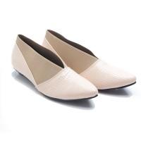 harga Dr. Kevin Women Flats Shoes Pu Leather 43208 - Cream Tokopedia.com