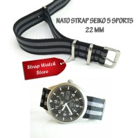 Tali Strap Jam Nato Seiko 5 Sports 22 MM