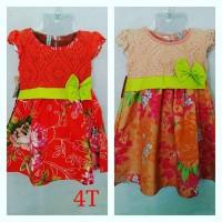 Dress Brokat Baju Anak Cantik Murah Branded Bahan halus