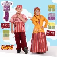 Baju Muslim Koko Anak kp 303 size 2 tahun warna merah