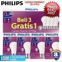 Jual Lampu LED Bulb PHILIPS 13W Paket 3 Free 1 - 13 W Watt 13Watt Murah