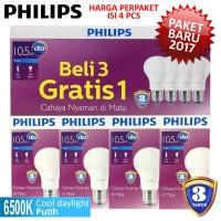 Jual Lampu LED Bulb PHILIPS 10,5W Paket 3 Free 1 - 10,5 W Watt 10 ,5 Watt Murah