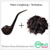 Pipa Cangklong tanduk kerbau + Tembakau