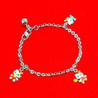 gelang anak atau bayi perak 925/perhiasan silver 925 lapis emas putih
