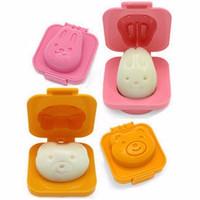 Jual HOT SALE Cartoon Rabbit and Bear Egg Rice Cake Mold / Cetakan Telur Murah