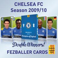 CHELSEA FC season 2009/10 Champion of England Fezballer Kartu Bola