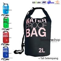 Drybag 2 Liter Hitam / Waterproof Bag Black / Kantong anti Air 2 liter