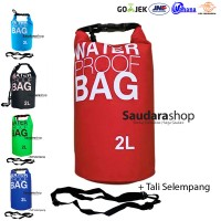 Drybag 2 Liter Merah / Waterproof Bag Red / Kantong anti Air 2 liter