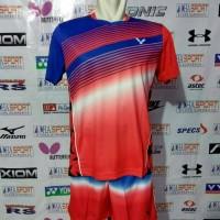 Setelan Badminton Victor Import Kode 6022 & 7017 G.o Timnas Malaysia