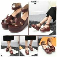 Sepatu Sandal Wedges Wanita Cewek Replika Merk Hermes