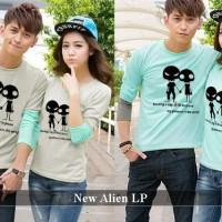 Lengan Panjang Couple Simple | Pusat Baju Couple | New Alien Lp