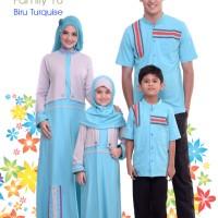 Alnita Family Sarimbit Keluarga 10 Biru Turquise