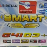 motherboard Biostar G41 D3+ LGA 775 garansi 6 thn