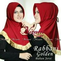 Bergo Rabbani Gold / Jilbab Nizam Scarf / Hijab Serut Tassel / Jilbab
