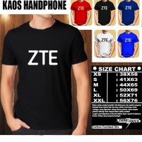 Kaos Gadget Handphone ZTE New Logo Font/Baju Distro/Tshirt Hp