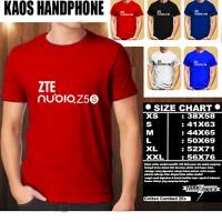 Kaos Gadget Handphone ZTE Nubia Z5S Logo Font/Baju Distro/Tshirt Hp