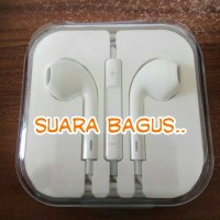 Jual Headset Earpod Handsfree Apple iPhone 5 5S 5G 6 6S 6+ Original 99,9% Murah