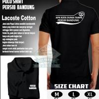 Polo Shirt Kaos Kerah 2/ APA KATA DUNIA TANPA PERSIB BANDUNG