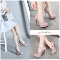 Jual sepatu highheels 25681 pump Shoes Wanita Import Murah Korea Fashion Murah