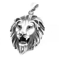 Harga lion pendant necklace liontin bandul kalung pria singa titanium | Pembandingharga.com