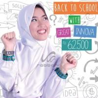 Jual Kerudung Sekolah Rabbani Great Inova Size M jilbab anak SMP - SMA Murah