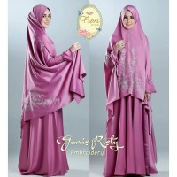 gamis risty cardi bordir original By Fiori hijab
