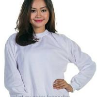 Jaket Pria Wanita Basic Sweater Putih Jumbo XXL