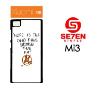 Casing HP Xiaomi Mi3 Hope is The Only Thing Custom Hardcase Cover