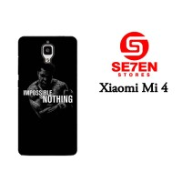 Casing HP Xiaomi Mi4 impossible is nothing Custom Hardcase Cover