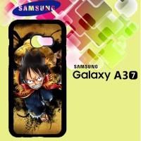 Casing Samsung A3 2017 one piece luffy background wallpaper Custom Har